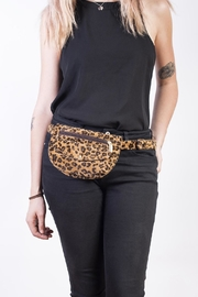 Disenia Leopard Fanny Pack Back - Front full body
