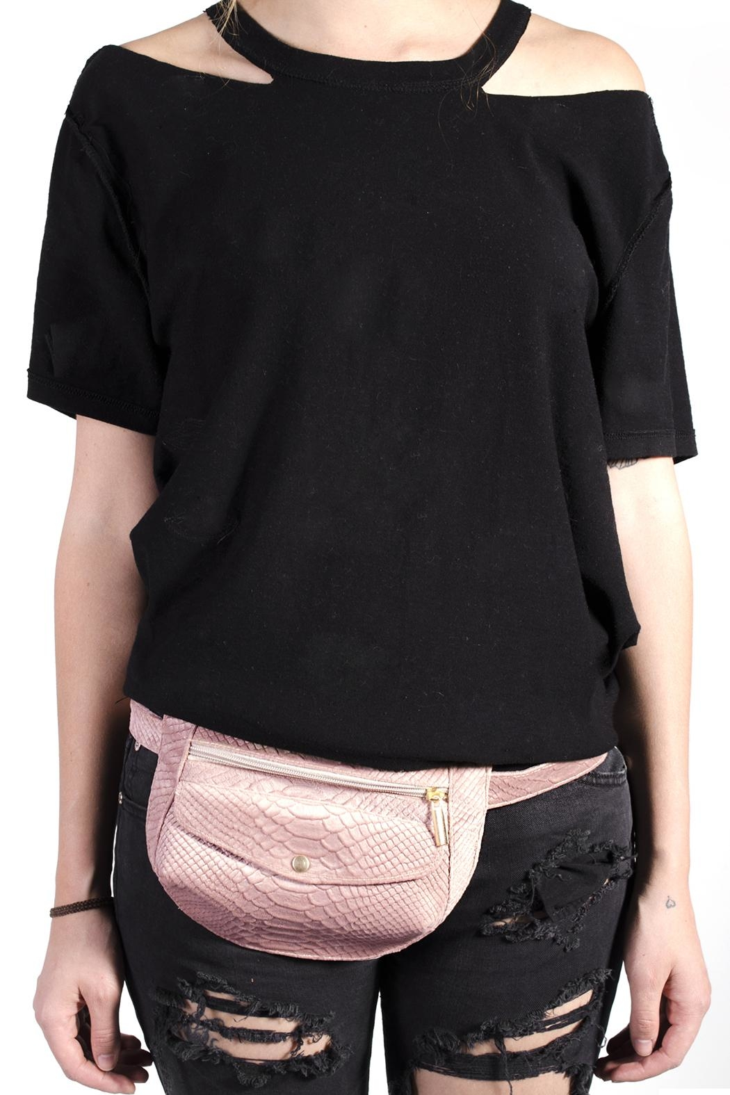 Disenia Pink Fanny Bag - Front Full Image