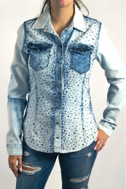 Dishejeans Dishe Shirt Blue - Front cropped