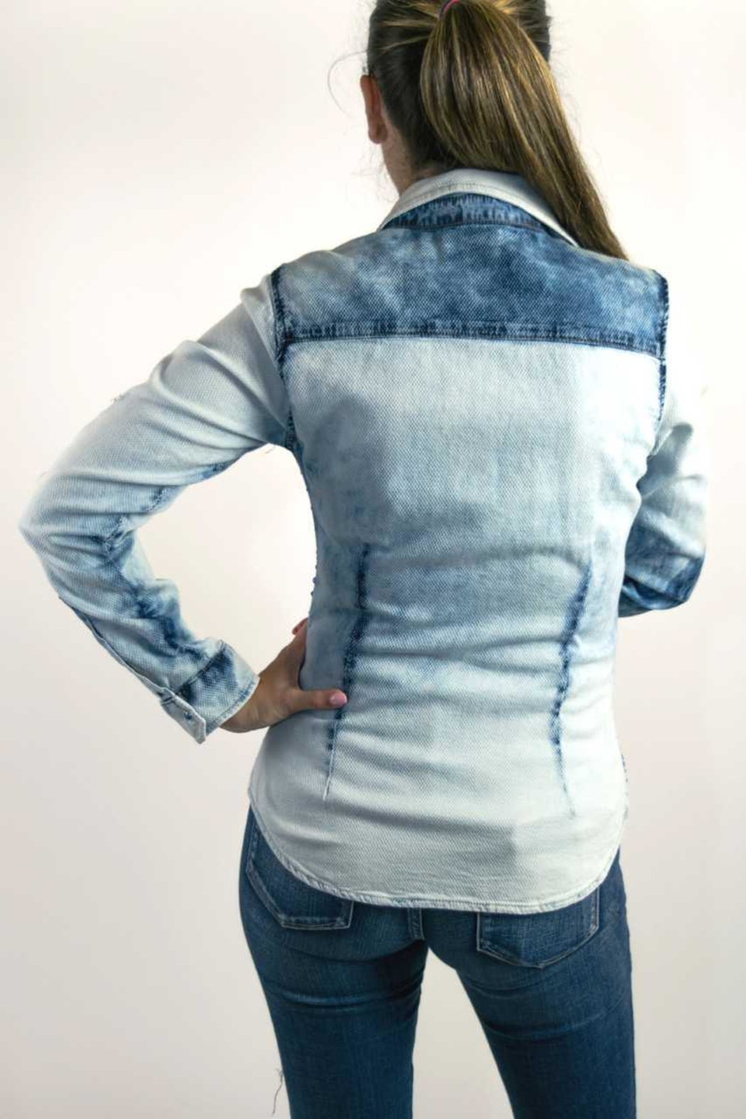 Dishejeans Dishe Shirt Blue - Front Full Image