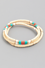 Fame Accessories Disk Bead Bracelets - Product Mini Image