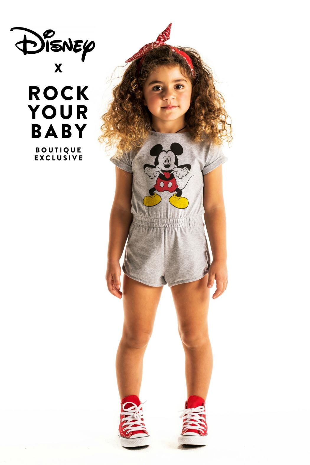 Rock Your Baby Disneyland Romper - Front Full Image