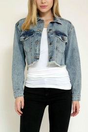 Sneak Peak Distress Denim Jacket - Product Mini Image