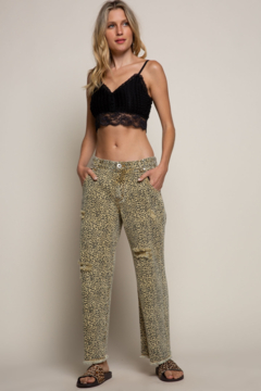 POL Clothing  Distress Leopard Jeans - Product List Image