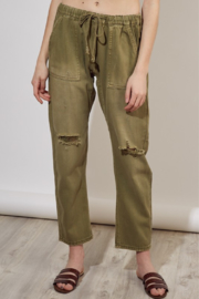 Mustard Seed  Distressed Banded Pant - Product Mini Image