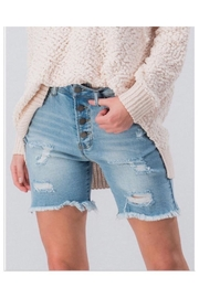 Cest Toi Distressed Bermuda Shorts - Front cropped