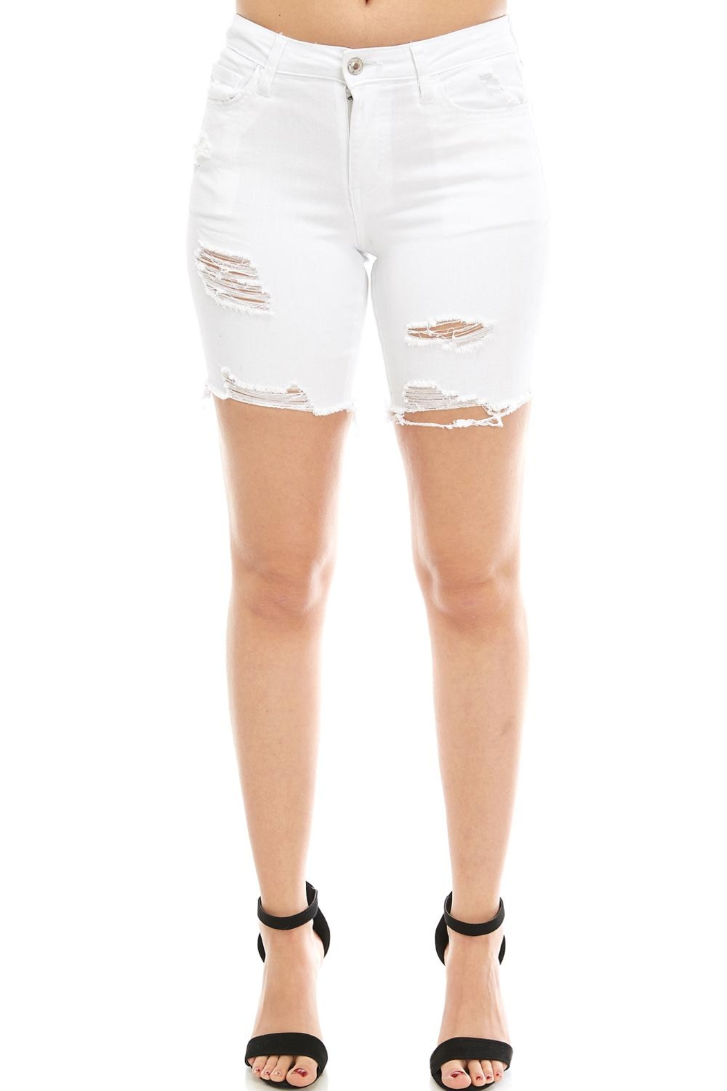 Vervet Distressed Bermuda Shorts - Front Cropped Image