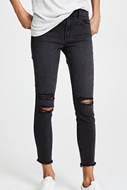 J Brand  Distressed Black Superskinny - Product Mini Image