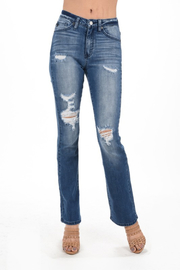 Kan Can Distressed Bootcut - Product Mini Image