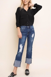 Umgee USA Distressed Bootcut Jeans - Product Mini Image