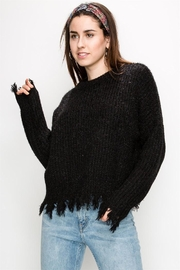 HYFVE Distressed-Bottom Crop Sweater - Product Mini Image