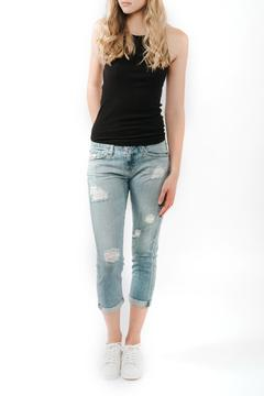 AG Adriano Goldschmied Distressed Boyfriend Crop Jeans - Product List Image