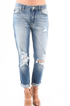 KanCan Distressed Boyfriend Jean - Alternate List Image