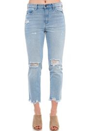 Sneak Peek Distressed Boyfriend Jeans - Product Mini Image