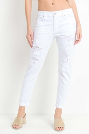 Just USA Distressed Boyfriend Jeans - Front cropped