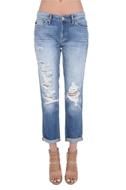 KanCan Distressed Boyfriend Jeans - Product Mini Image