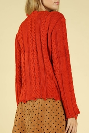 Wild Honey Distressed Cable Knit Sweater - Side cropped