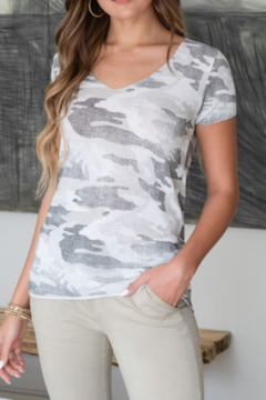 Venti 6 Distressed Camouflage Top - Product List Image