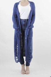 Unknown Factory Distressed Cardigan - Product Mini Image