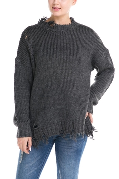 Shoptiques Product: Distressed Collar Sweater
