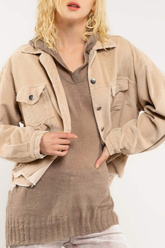 Pol Clothing Distressed Corduroy Jacket - Product List Image