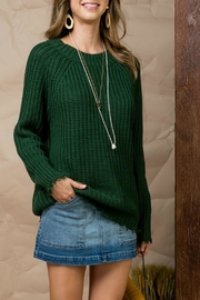 Pretty Little Things Distressed Crew Sweater - Front cropped