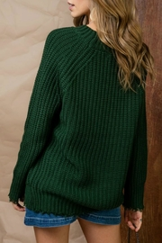 Pretty Little Things Distressed Crew Sweater - Front full body