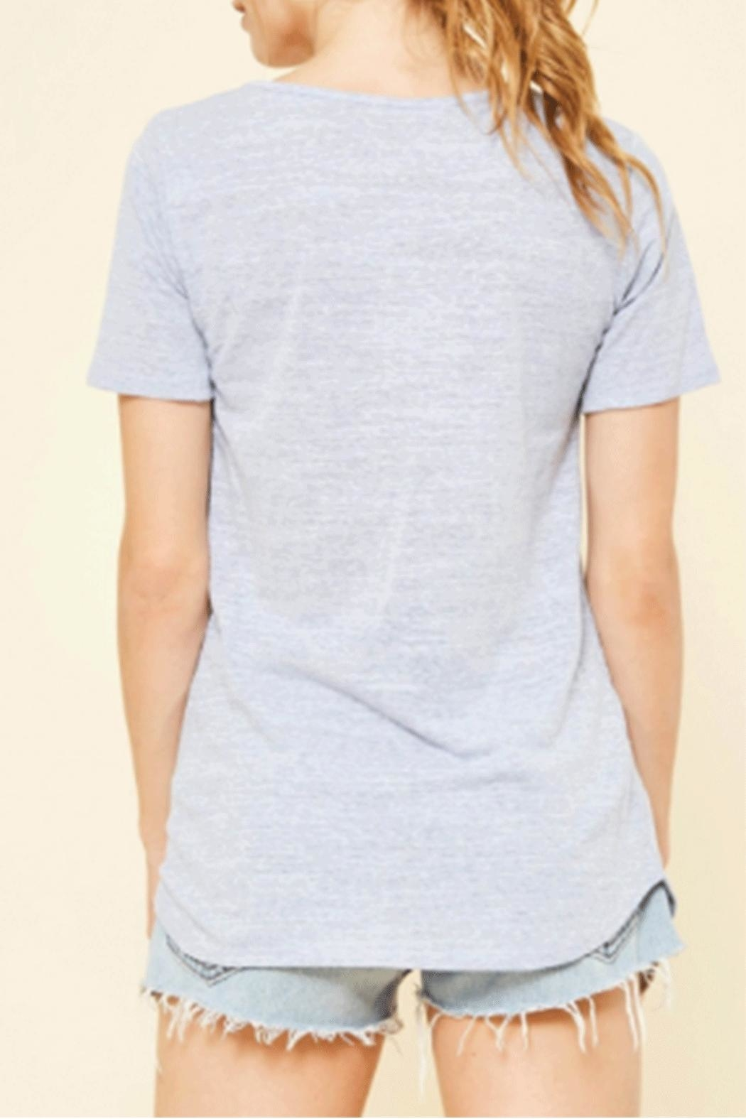 Promesa USA Distressed Criss-Cross Tee - Front Full Image