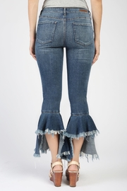 Articles of Society Distressed Crop Flare Jeans - Front full body