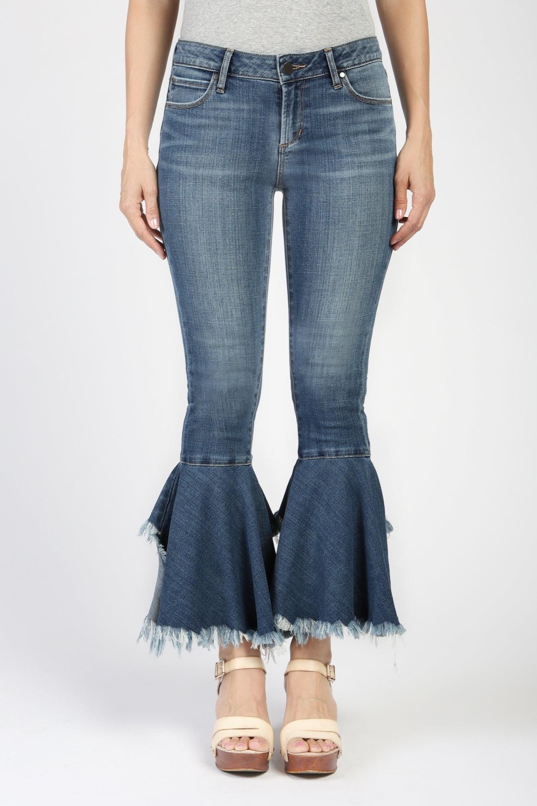 Articles of Society Distressed Crop Flare Jeans - Main Image