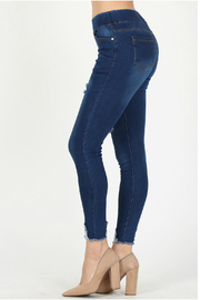 Bagel Distressed cropped skinny_jean - Other