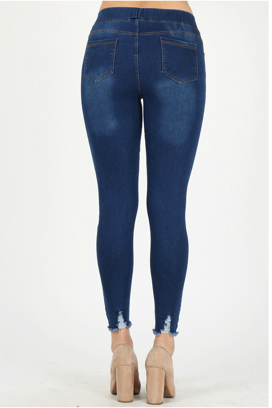 Bagel Distressed cropped skinny_jean - Front Full Image