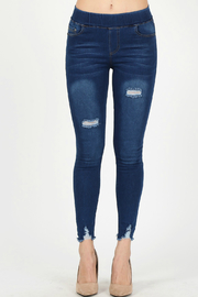 Bagel Distressed cropped skinny_jean - Front cropped