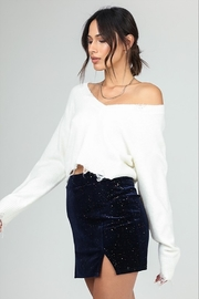 Honey Punch Distressed Cropped Sweater - Side cropped