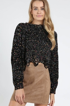 Wild Honey Distressed Cropped Sweater - Product List Image
