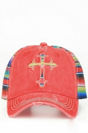 Izzie's Boutique Distressed Cross Hat - Product Mini Image