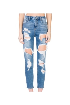 Cello Distressed Demin Jeans - Product List Image