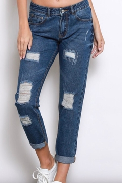 Shoptiques Product: Distressed-Denim Boyfriend Jeans