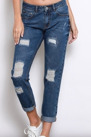 Wishlist Distressed-Denim Boyfriend Jeans - Product Mini Image
