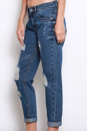 Wishlist Distressed-Denim Boyfriend Jeans - Side cropped