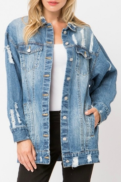 Modern Emporium Distressed Denim Jacket - Product List Image