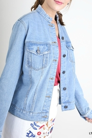 Umgee USA Distressed Denim Jacket - Front full body