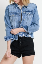 Just USA Distressed Denim Jacket - Front cropped