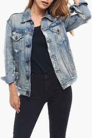 Able  Distressed Denim Jacket - Product Mini Image
