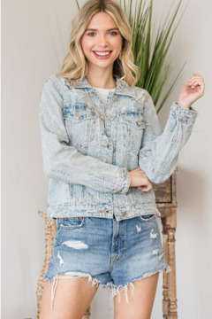 veveret Distressed Denim Jacket - Product List Image
