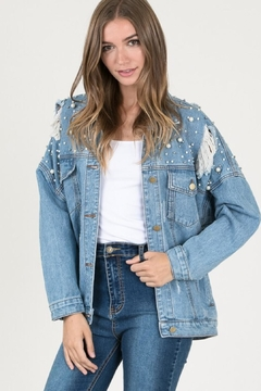 the clothing company Distressed Denim Jacket - Product List Image