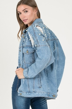 the clothing company Distressed Denim Jacket - Alternate List Image