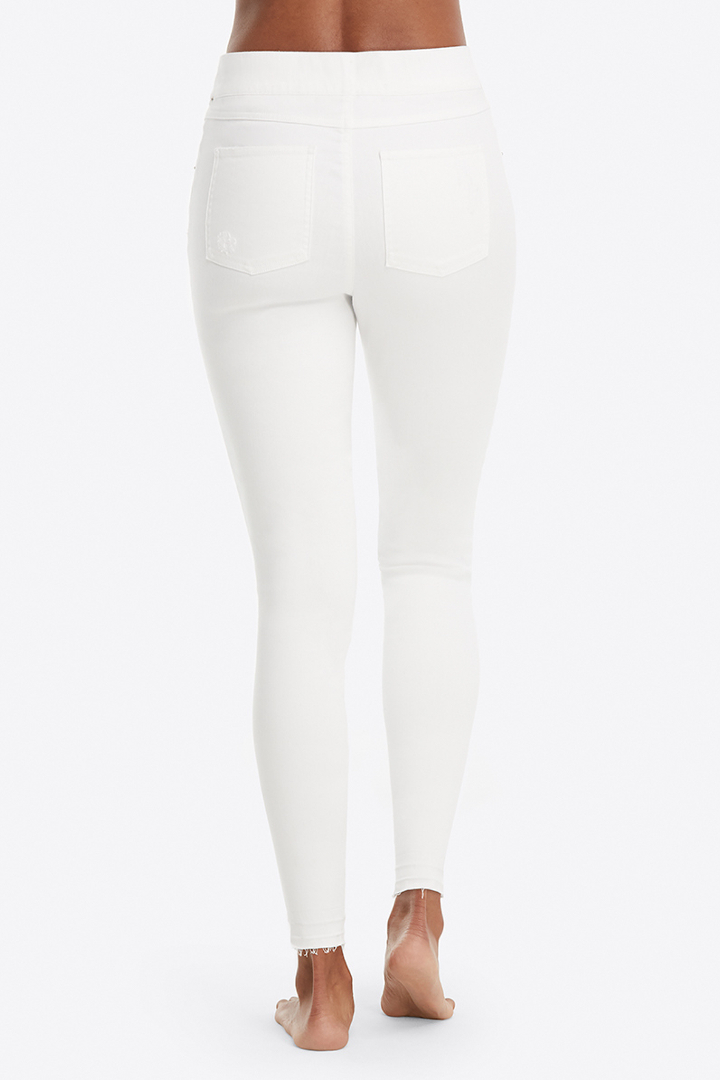 Spanx Distressed Denim Leggings - Back Cropped Image