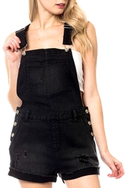 Love Tree Distressed Denim Overall_romper - Product Mini Image