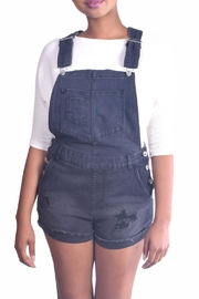 Love Tree Distressed Denim Overalls - Product Mini Image